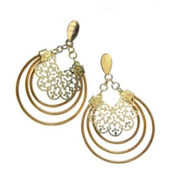 "Art da Terra Jewelry - Art da Terra ""Golden Grass"" Dangle Earrings"